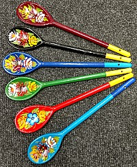 NEW! Hand Painted Spoons